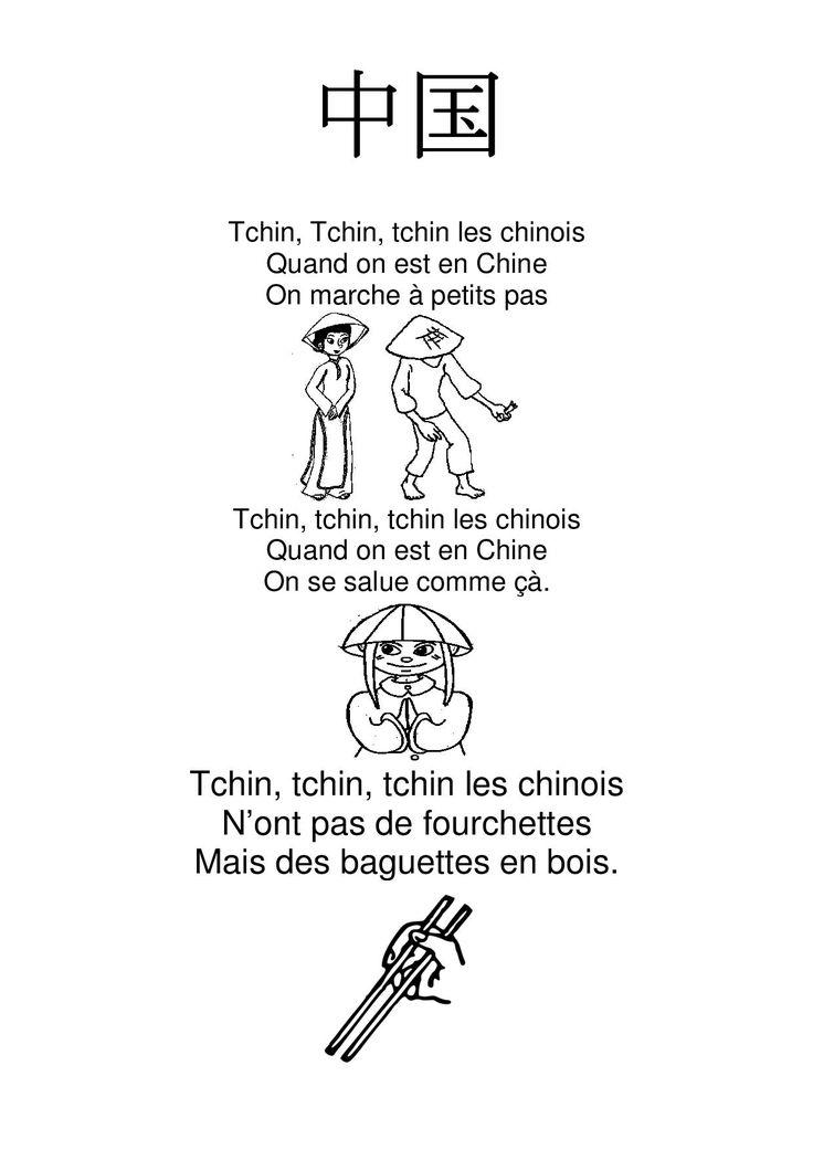 tchin tchin tchin les chinois - la maternelle de Camille