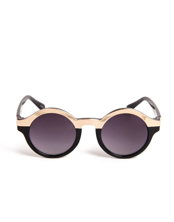 Metal Circle Half Frame Sunglasses. Best fit to Chanel tights, Remember?