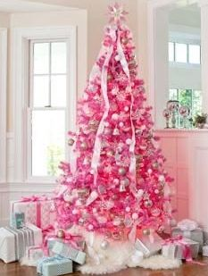 pink christmas treelast year we did a boys huntingfishing themed - Pink Christmas Trees