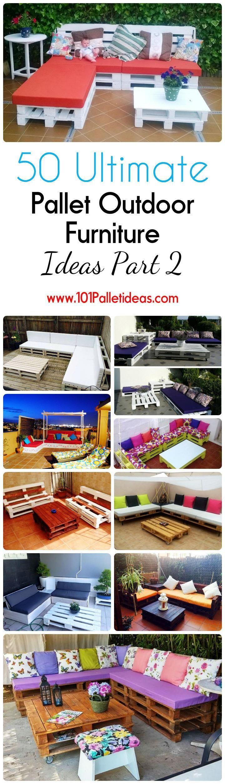 50 Ultimate Pallet Outdoor Furniture Ideas | 101 Pallet Ideas - Part 2
