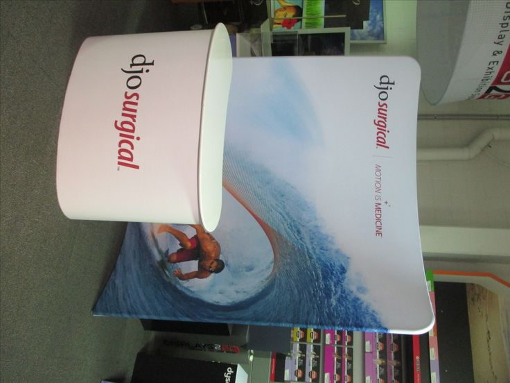 SuperWall and Counter - new appealing customised shape - www.displays2go.com.au