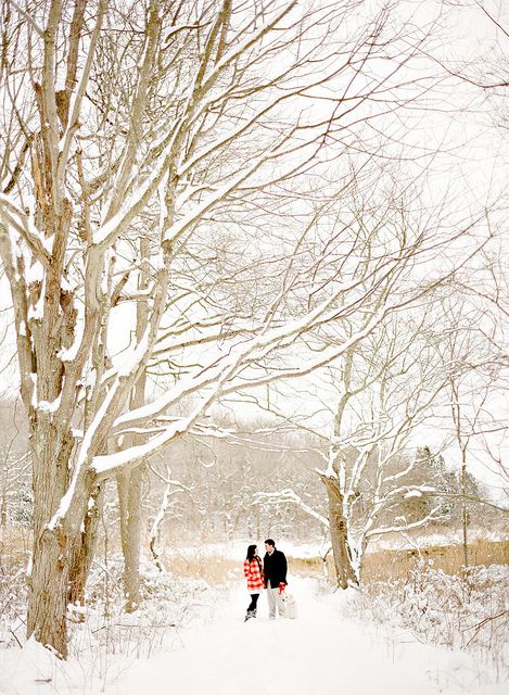 Mandy Mayberry Photography - beautiful winter engagement shot