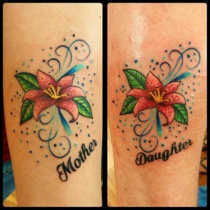 15 Super Ideas Tattoo Matching Flower Mother Daughters #tattoo