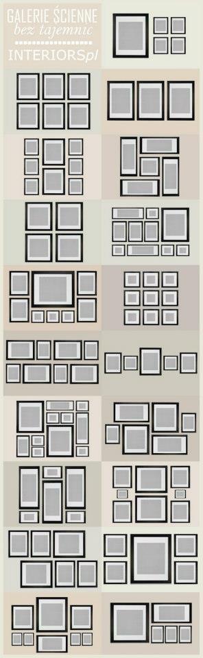 Photo frame groupings