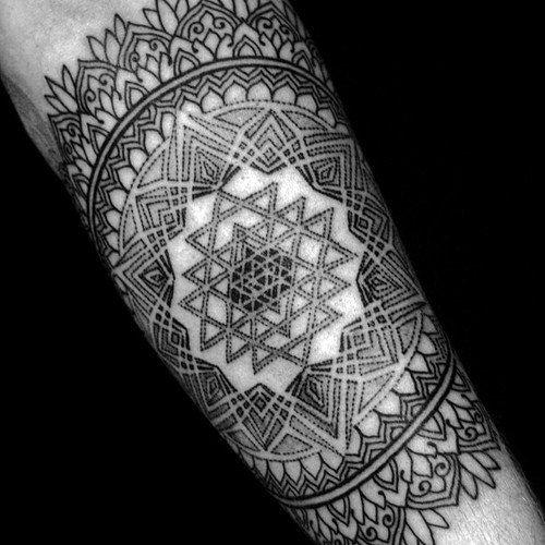 mandala forearm arm tattoo tatts. Black Bedroom Furniture Sets. Home Design Ideas
