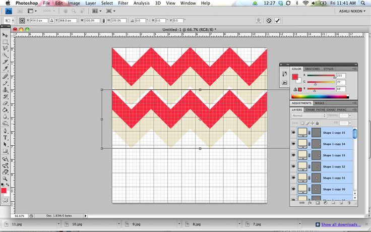 how to make a chevron pattern in photoshop - would have never thought to do it this way!