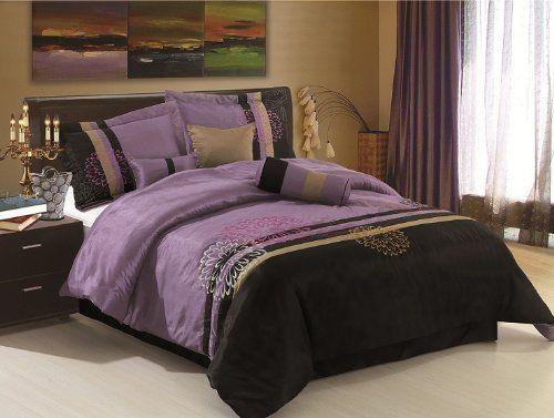 Black Purple Comforter Set | Discount Comforter Set