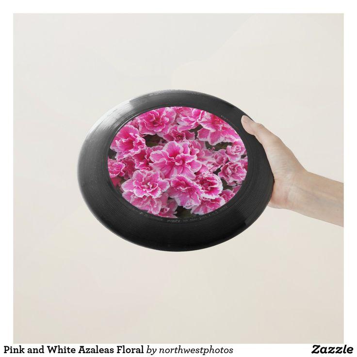 Pink and White Azaleas Floral Wham-O Frisbee