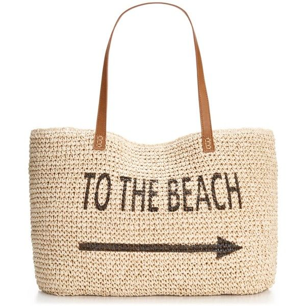 Style & Co. Beach Straw Tote, ($37) ❤ liked on Polyvore featuring bags, handbags, tote bags, beach, accessories, bolsas, man bag, purse tote, hand bags and white tote bag