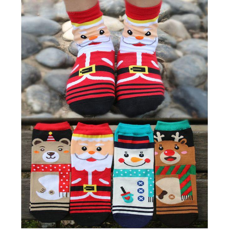 Купить товар2015 Горячей Продажи 1 пара Конфеты Цвет Носки Мода Рождественский Носок Мультфильм Милый Носок Санта Клауса B0167 в категории Рождествона AliExpress.    уважаемый Клиент      сумма меньше, чем6.99 USD.мы пошлемочередной Пакетик Plus.(посылки будет доставить в ваш дом, н