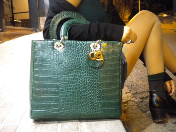 Primadonna green croco bag