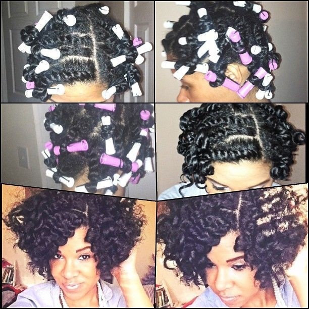 One way I do my hair, except she braids first and sets with Motion. Going to try this.