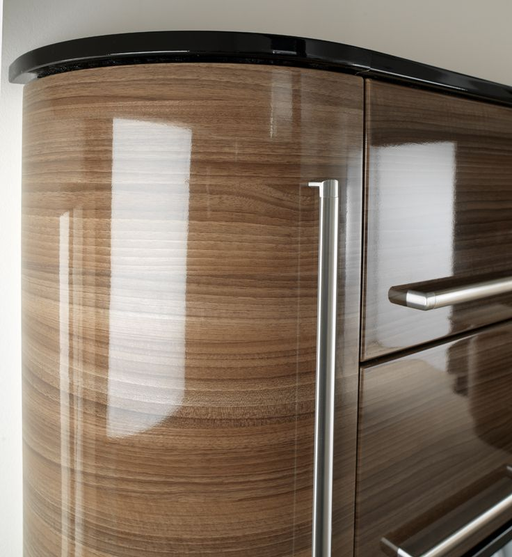 The term means glossy kitchens where the various units are made from walnut wood. In these cases the doors are made ... & 31 best High Gloss Kitchen Doors images on Pinterest | High gloss ...