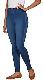 Denim & Co. As Is Distressed Pull-On Stretch Denim Leggings