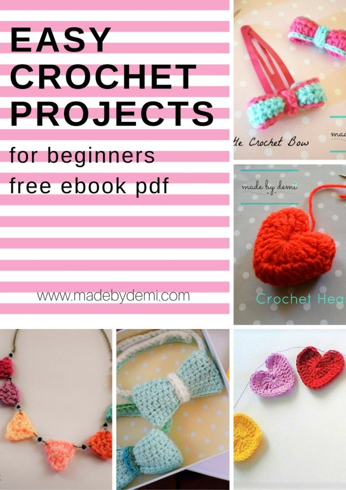 5 EASY CROCHET PROJECTS FOR BEGINNERS | pdf FREE ebook | made by demi