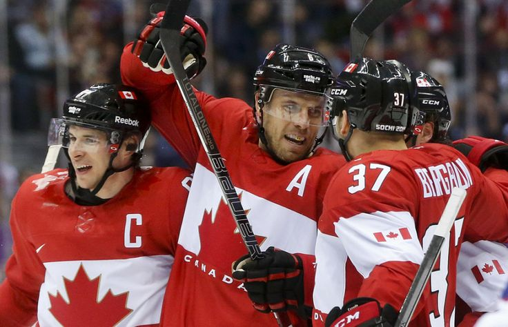 All smiles over here. Canada opens Olympic men's #hockey tournament with 3-1 win over Norway #Sochi2014