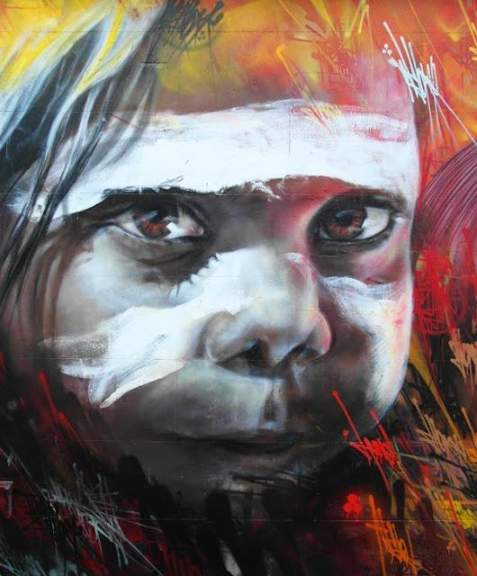 by ADNATE (Australia) en Melbourne #streetart #mural #wallart #graffiti