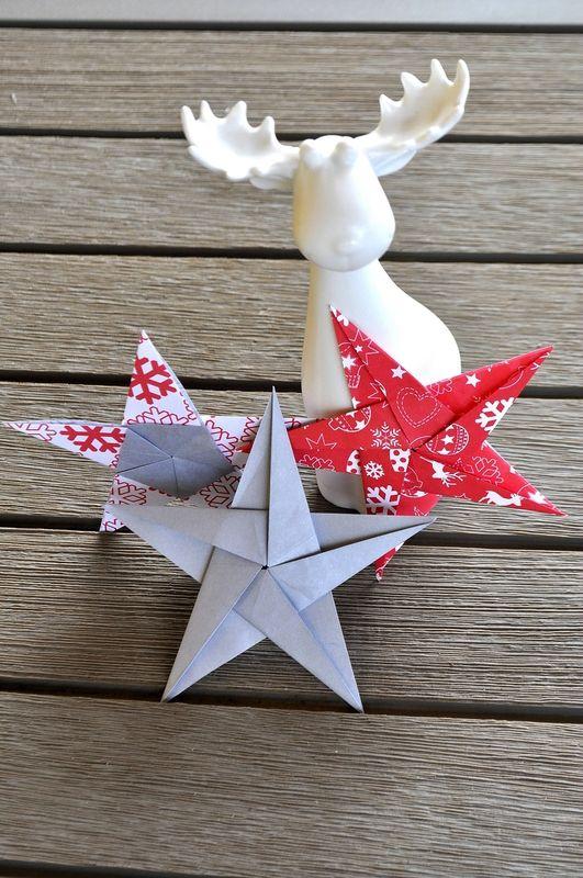 Les 25 meilleures id es de la cat gorie toile origami sur - Tuto etoile origami ...
