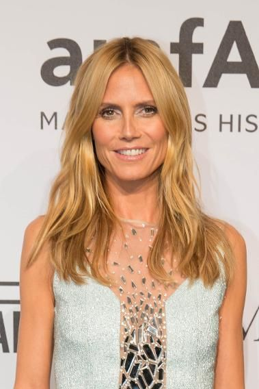The Best Beauty Looks from the amfAR Gala | Heidi Klum with Beachy Hair and Silver Eye Makeup