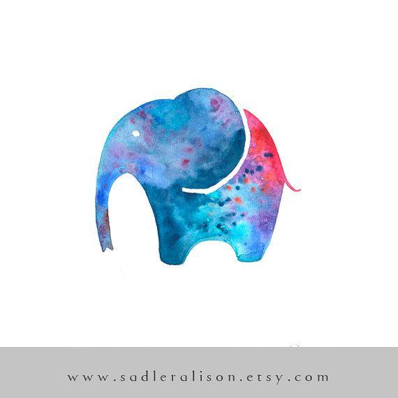Elefante galattico-Stampa del mio acquarello di SadlerAlison
