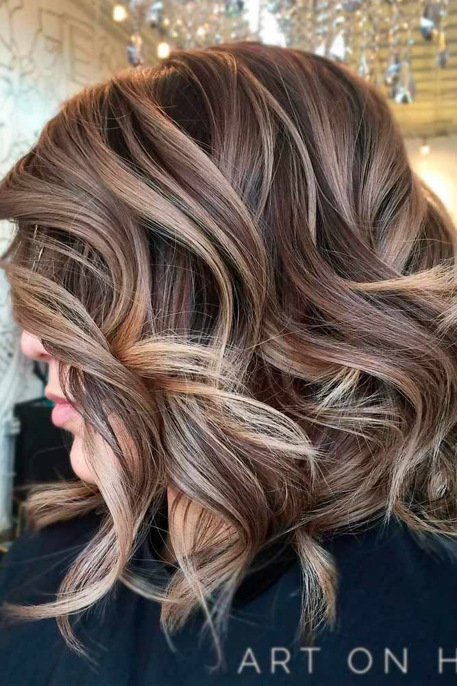Natural Blonde Highlights On Dark Brown Hair 55 Beloved Short Curly Hairstyles For Women Of Any Age
