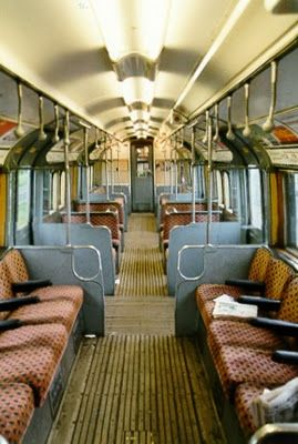 vintage London tube train ~ I remember that!