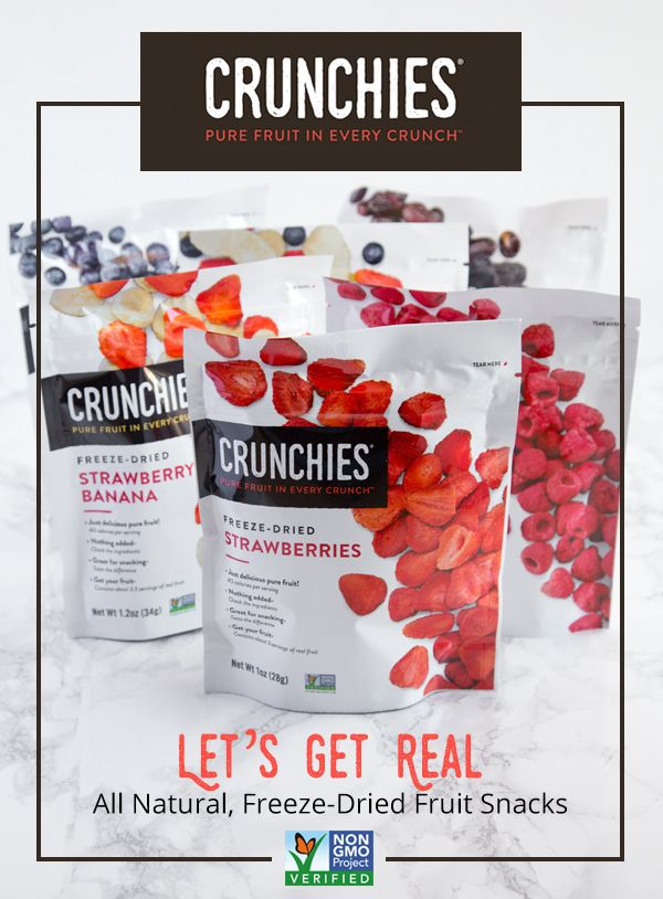 Crunchies Freeze-Dried Fruit. I'm addicted to the apple/cinn one!