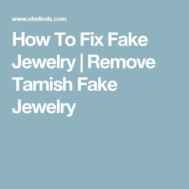How To Fix Fake Jewelry | Remove Tarnish Fake Jewelry
