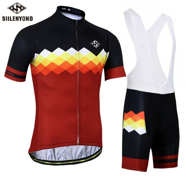 SIILENYOND Gannon Breathable Cycling Jersey Summer MTB Clothes Bicycle Clothing Ropa Maillot Ciclismo Racing Cycling Jersey set