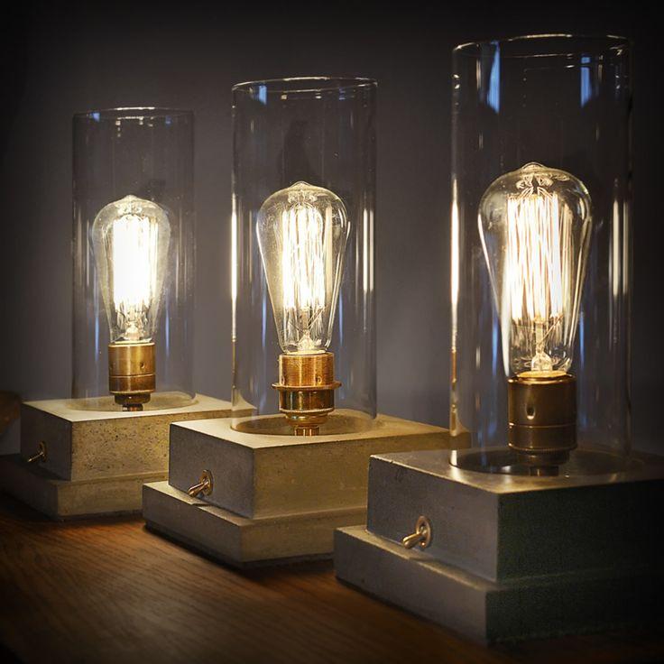 Awesome  homify Beton Lampe Leuchte Betonlampe Gl hbirne Industrial Wohnzimmer