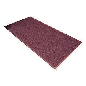 Entrance Mat, Poly, Fiber, Burgundy, 3 x4 ft by Notrax. $93.56. Entrance Mat, Heavy Traffic, Polypropylene and Fiber (Surface), Vinyl (Backing), Burgundy, Length 4 ft., Width 3 ft., Thickness 5/16 In., Vinyl Backing, Design Mini-Checked Pattern, Construction Dual-Fiber, Loop-Pile Surface Which Keeps Mud, Dirt, Sand, Gravel And Moisture Contained, Polypropylene Carpet Fibers Absorb Moisture, While Grass Fibers Scrape Off Dirt And Debris, Vinyl Backing Is Color Coordinate...