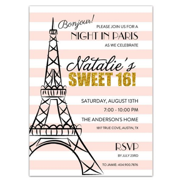 Party+In+Paris+Sweet+16+Invitations