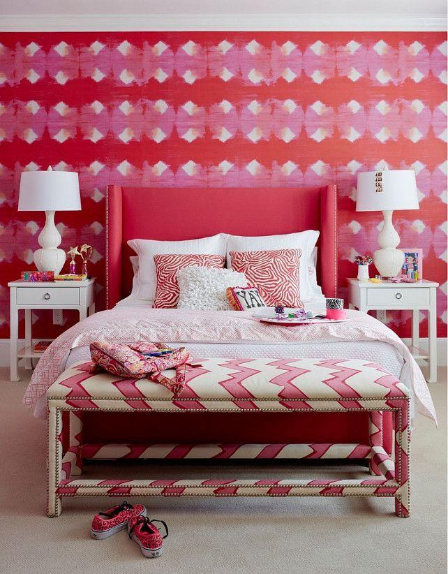 Red dress kid bedroom