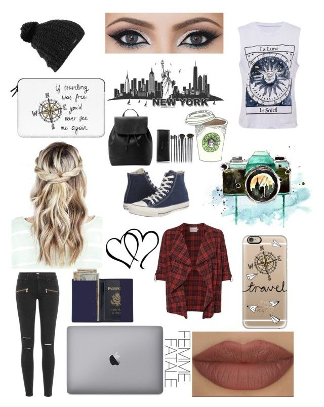 """Travel the World with your best friend"" by explicitexposa ❤ liked on Polyvore featuring Converse, Casetify, JunaRose, Burton, Paige Denim, Derriére, Royce Leather and MANGO"