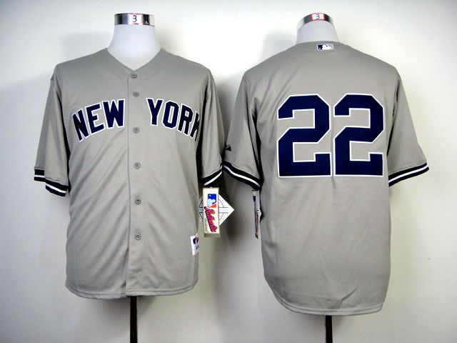 Men's MLB New York Yankees #22 Jacoby Ellsbury Grey M&N Jersey