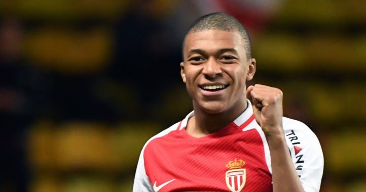 Monaco's French forward Kylian Mbappe Lottin  celebrates after scoring a goal during the French  Ligue 1 football match between AS Monaco and Metz (FCM) at the Louis II Stadium in Monaco on  February 11 2017. / AFP PHOTO / Yann COATSALIOU  Monaco striker Kylian Mbappe has attracted some of the biggest sides in world football in the last few weeks making the 18-year-old footballs most courted teenager. The striker took Europe by storm last season scoring 26 goals in all competitions in his…