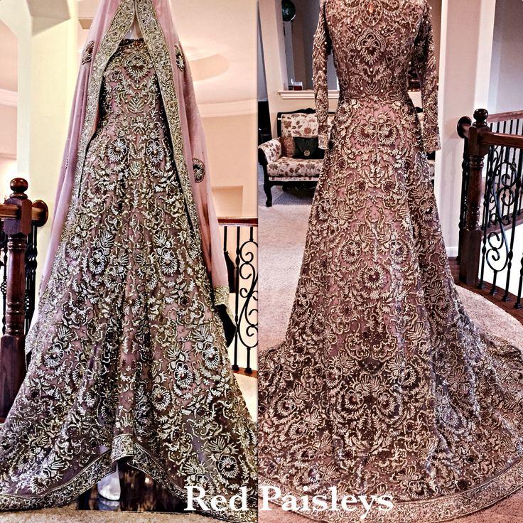 Pakistani bridal train dress
