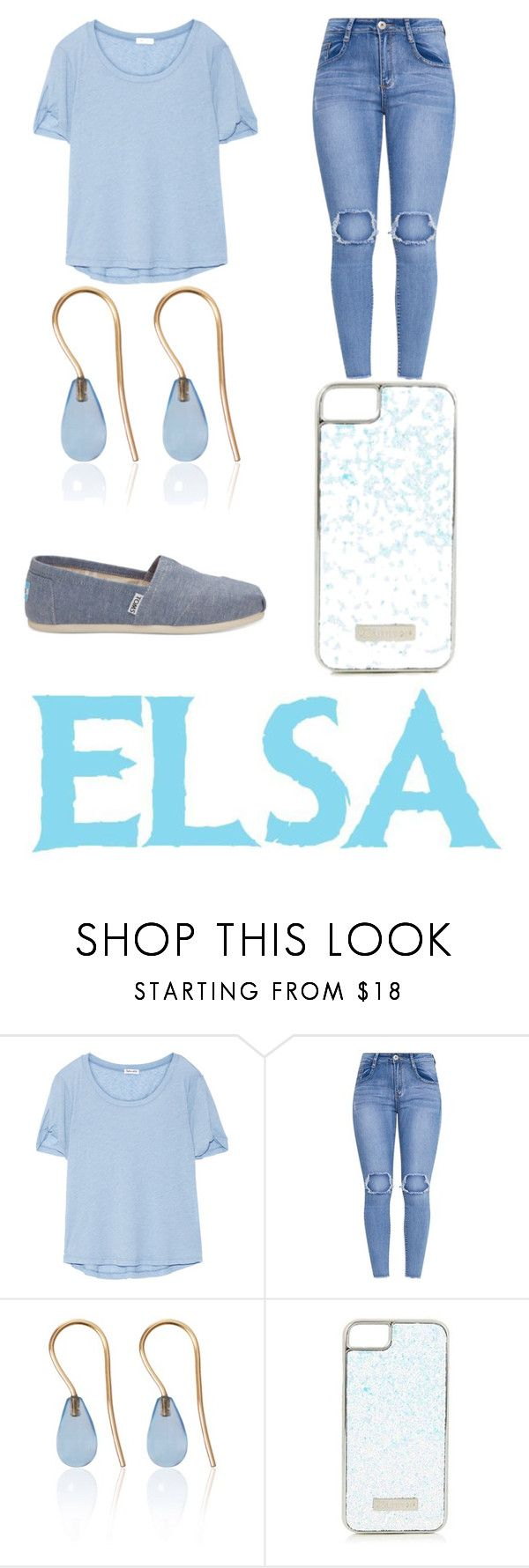 """""""Modern Elsa"""" by krushing409 ❤ liked on Polyvore featuring Splendid, Love Is, Skinnydip, TOMS, Disney and modern"""