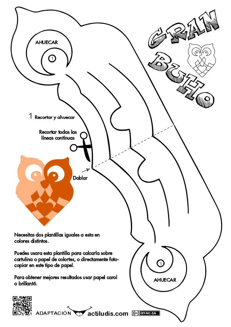 DIY paper Owl ornament. Free printable.