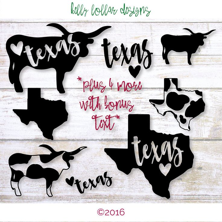 8 Texas Football SVG | Austin, TX | Love Texas | Longhorn svg | Texas SVG | Cutting Files for Silhouette, Cricut and other Die Cut Machines by KellyLollarDesigns on Etsy