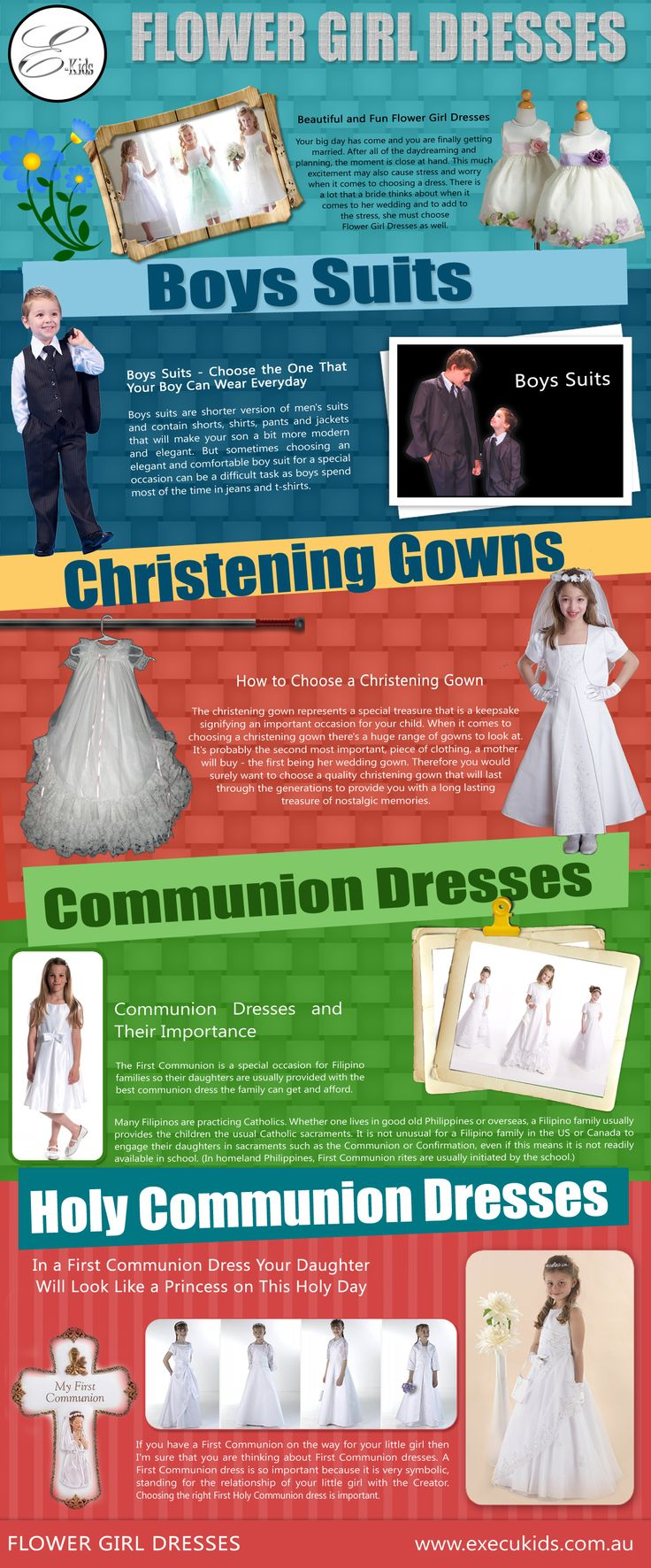 Thus, whatever the financial state in life, families prepare what they can for daughters to look their Church best. Click this site http://execukids.com.au/ for more information on Communion Dresses. They buy them the best design first Communion Dresses to make their day special and memorable.
