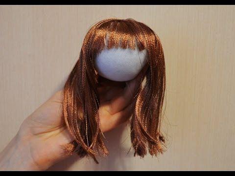 Волосы из атласной ленты / Hair of satin ribbons - YouTube (Silk hair for dolls)