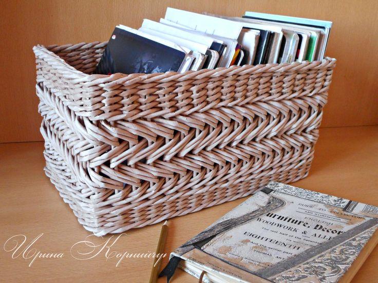 Плетение из бумаги и газет. Красноярск.♥