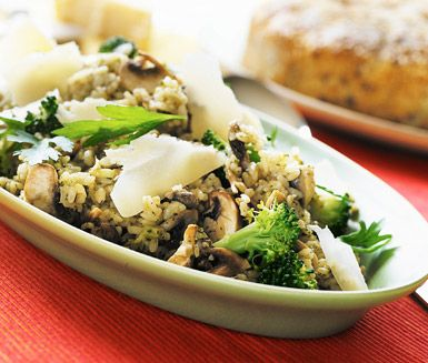 Recept: Risotto med svamp och broccoli