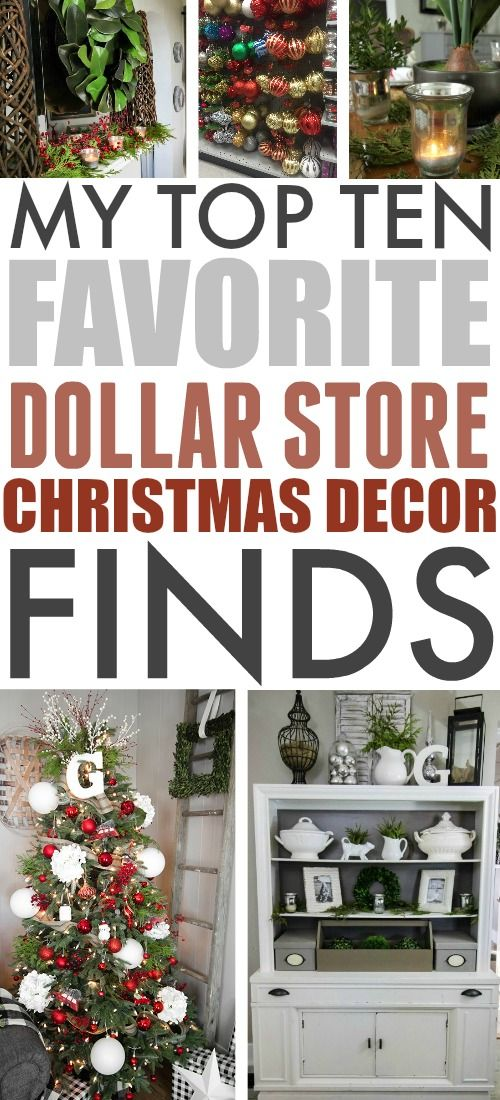 The Christmas decor options at the dollar store mi…
