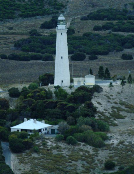 Wadjemup Lighthouse on Rottnest Island Western Austrailia, Rottnest Island got its name in 1696 when Willem de Vlamingh landed there and found an animal that was a 'kind of rat, as big as a common cat'. He called the island Rottnest which literally means 'Rats Nest'. We know these a small marsupials today as quokkas. Its location is Latitude 32° 0.5' S, Longitude 115° 30.1' E