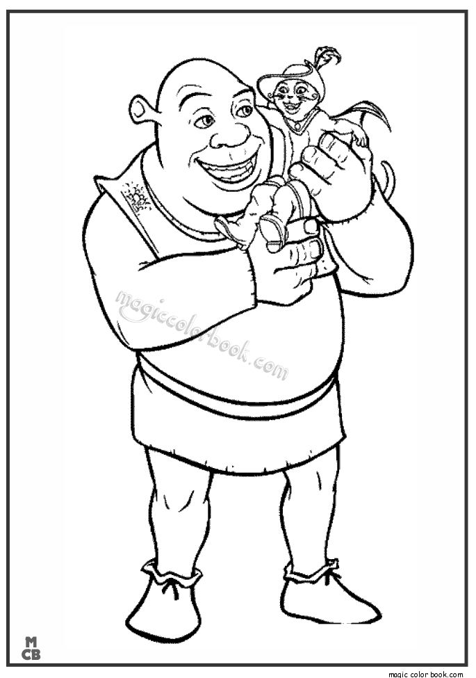 31 best shrek coloring pages free online images on for Kitty softpaws coloring pages