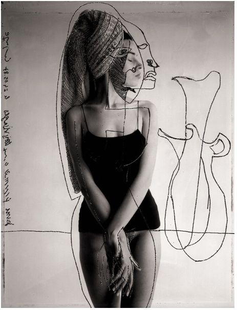Jean-François Lepage is a French fashion photographer who uses drawing and collage to create his images