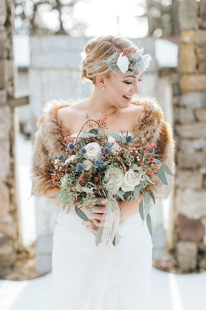 romantic winter bridals   Jenna Brianne Photography   Glamour & Grace