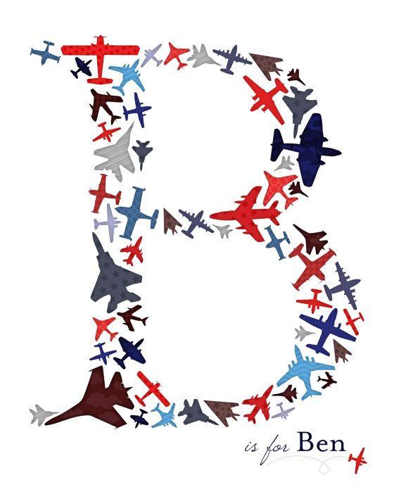 Custom Monogram Print Up in the Air by TeacupOfBlessings on Etsy, $11.00